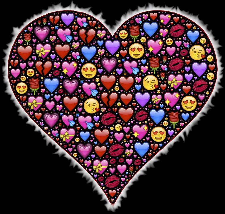 Coeur au clavier